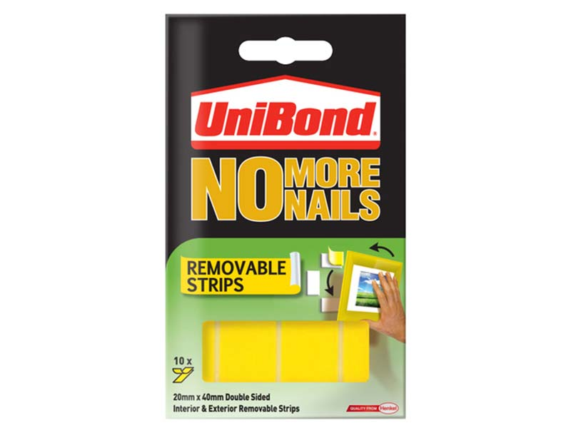 No More Nails Removable Pads 19mm x 40mm (Pack of 10) 1