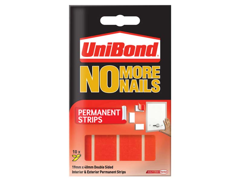 No More Nails Permanent Pads 19mm x 40mm (Pack of 10) 1