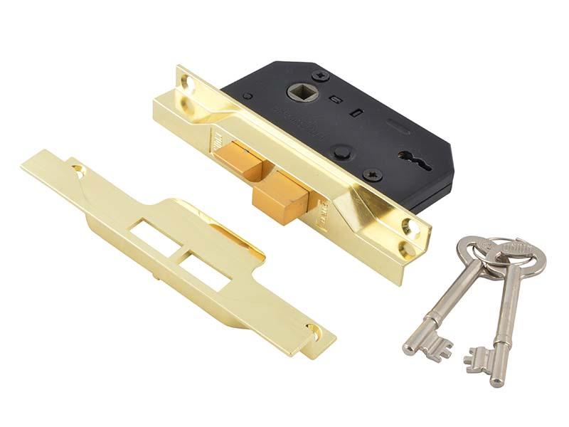 2242 2 Lever Mortice Rebated Sashlock Electro Brass 65.5mm 2.5in Visi 1