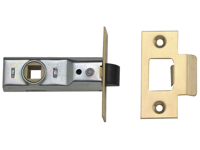 Tubular Mortice Latch 2648 Polished Brass 64mm 2.5in Visi 1
