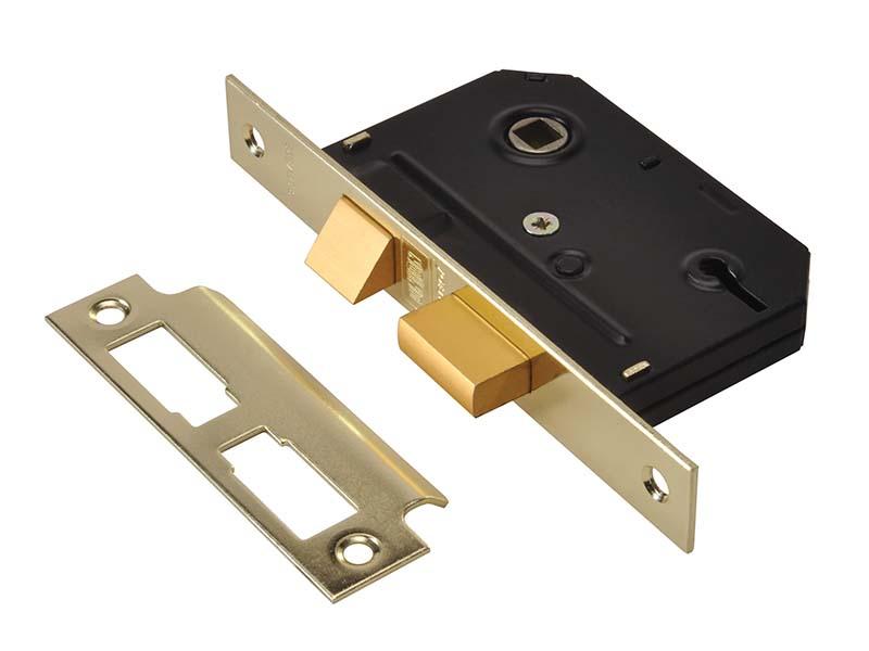 ES-SL Essentials 3 Lever Mortice Sashlock Polished Brass 65mm 2.5in Visi 1