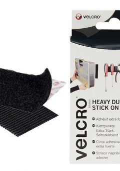 VELCRO® Brand Heavy-Duty Stick On Strips (2) 50 x 100mm Black 11