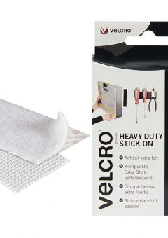 VELCRO® Brand Heavy-Duty Stick On Strips (2) 50 x100mm White 10