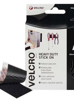 VELCRO® Brand Heavy-Duty Stick On Tape 50mm x 1m Black 9
