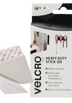 VELCRO® Brand Heavy-Duty Stick On Tape 50mm x 1m White 8
