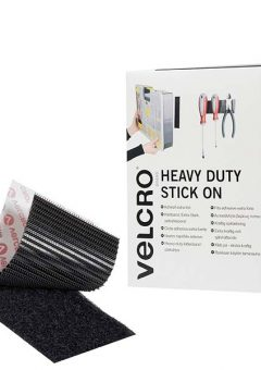 VELCRO® Brand Heavy-Duty Stick On Tape 50mm x 5m Black 7