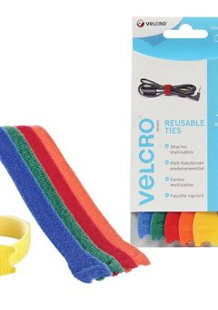 VELCRO® Brand ONE-WRAP® Reusable Ties (5) 12mm x 20cm Multi-Colour 5