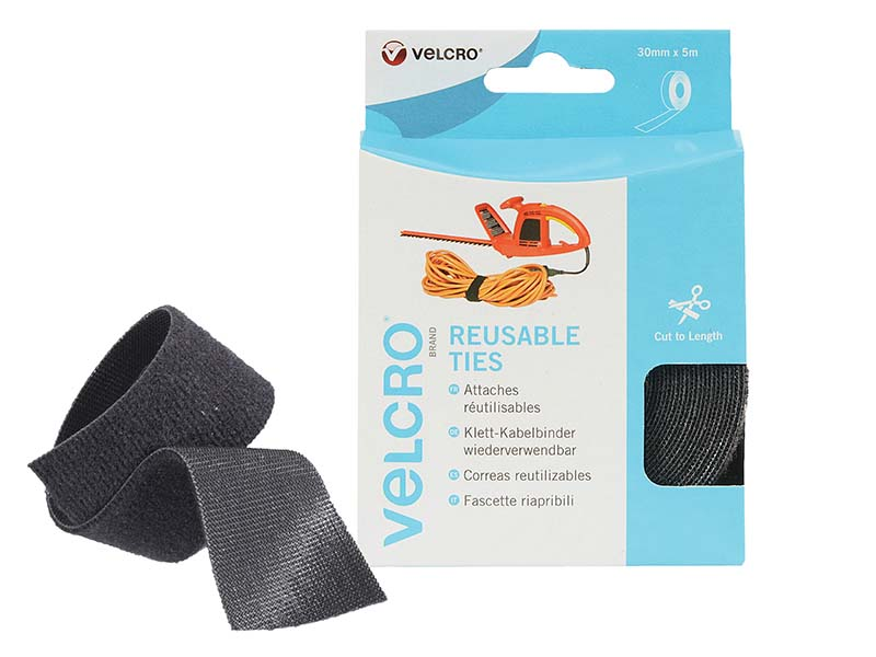 VELCRO® Brand ONE-WRAP® Reusable Ties 30mm x 5m Black 1