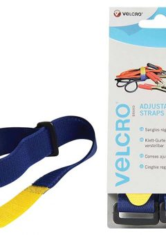 VELCRO® Brand Adjustable Straps (2) 25mm x 46cm Blue 2