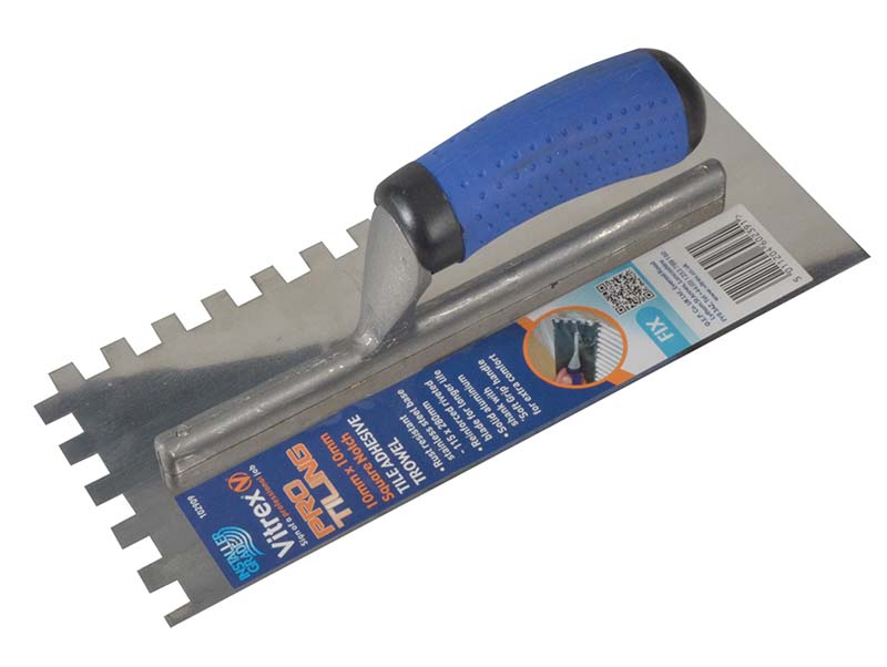 Professional Notched Adhesive Trowel 10mm Stainless Steel 11 x 4.1/2in 1