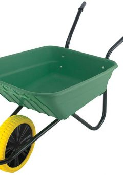 90L Green Polypropylene Wheelbarrow - Puncture Proof 12
