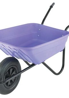 90L Lilac Polypropylene Wheelbarrows 11