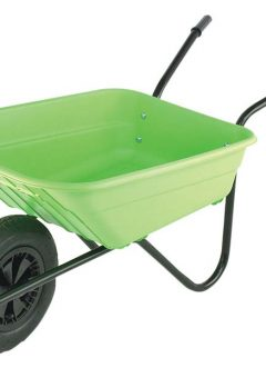 90L Lime Polypropylene Wheelbarrows 10