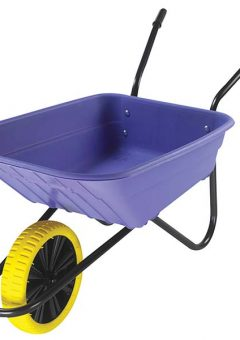 90L Lilac Polypropylene Wheelbarrow - Puncture Proof 9