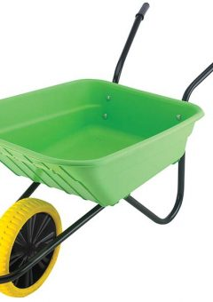 90L Lime Polypropylene Wheelbarrow - Puncture Proof 8