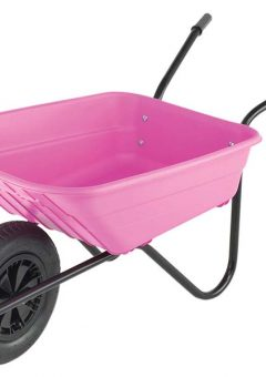 90L Pink Polypropylene Wheelbarrow 7
