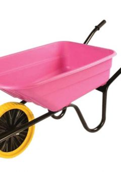 90L Pink Polypropylene Wheelbarrow - Puncture Proof 6