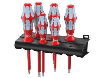Kraftform Plus VDE Stainless Steel Screwdriver Set of 6 SL/PZ 1