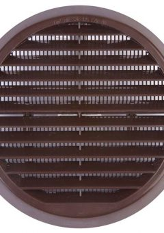 Wall Grille Brown Round 100mm 1
