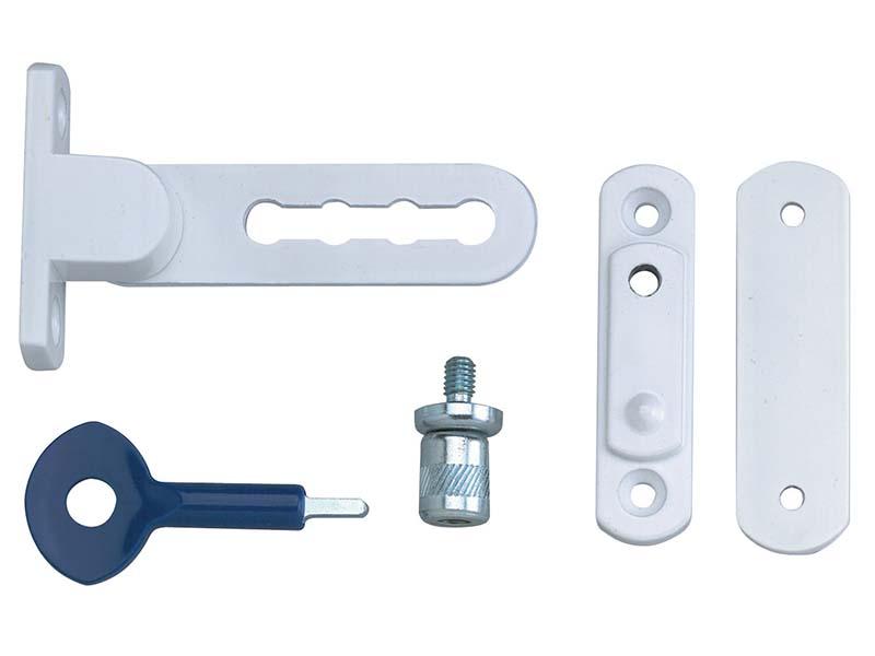 P117 Ventilation Window Lock White Finish Pack of 2 1