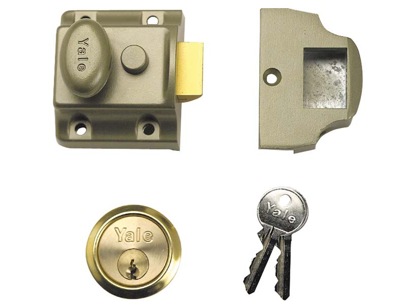 706 Traditional Nightlatch 40mm Backset ENB Finish Box 1