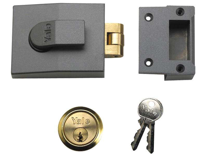 81 Rollerbolt Nightlatch 60mm Backset DMG Finish Box 1