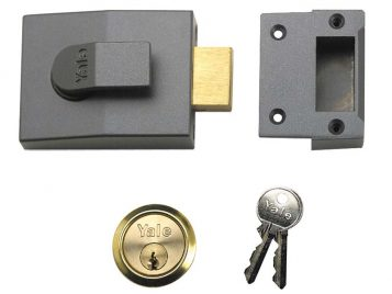 82 Deadbolt Nightlatch 60mm Backset DMG Finish Box 1