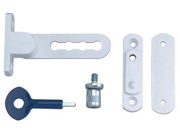 P117 Ventilation Window Lock White Finish Pack of 1 1