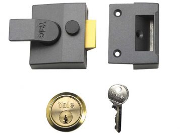 P85 Deadlocking Nightlatch 40mm Backset Brasslux Finish Visi 1