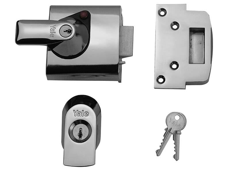 BS1 Nightlatch British Standard Lock 60mm Backset Chrome Finish Visi 1