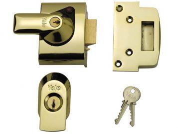BS2 Nightlatch British Standard Lock 40mm Backset Brasslux Finish Visi 1