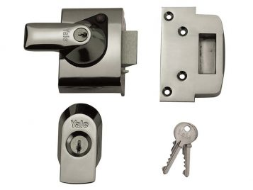BS2 Nightlatch British Standard Lock 40mm Backset Chrome Finish Visi 1