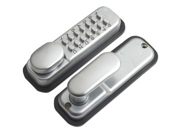 P-DL02-SC Push Button Door Lock Chrome Finish Hold Open Function 1