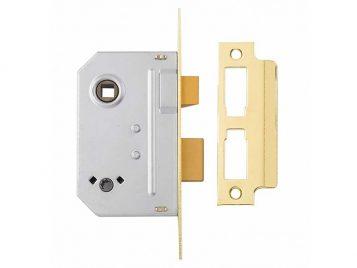 PM236 Bathroom 2 Lever Sashlock Polished Brass 67mm 2.5in 1