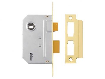 PM246 Internal 2 Lever Mortice Sashlock Polished Brass 80mm 3in 1