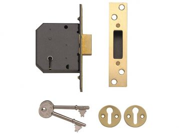 PM552 5 Lever Mortice Deadlock 80mm 3in Polished Brass 1