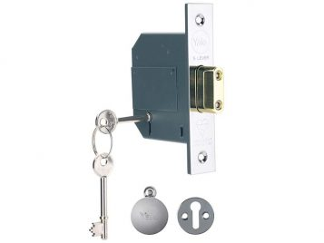 PM562 Hi-Security BS 5 Lever Mortice Deadlock 68mm 2.5in Polish Chrome 1