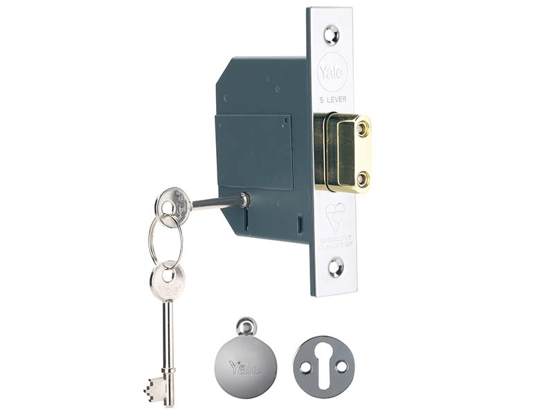 PM562 Hi-Security BS 5 Lever Mortice Deadlock 81mm 3in Polish Chrome 1