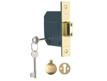 PM562 Hi-Security BS 5 Lever Mortice Deadlock 68mm 2.5in Polish Brass 1