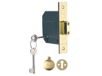 PM562 Hi-Security BS 5 Lever Mortice Deadlock 81mm 3in Polish Brass 1