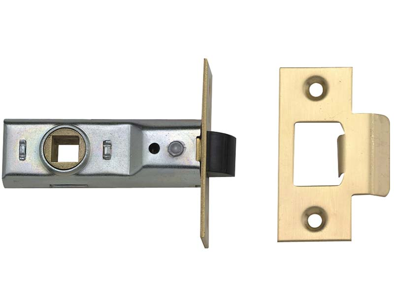 M888 Tubular Mortice Latch 64mm 2.5 in Polished Brass Pack of 3 1