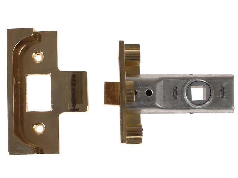 M999 Rebate Tubular Latch 64mm 2.5 in Polished Brass Finish 1