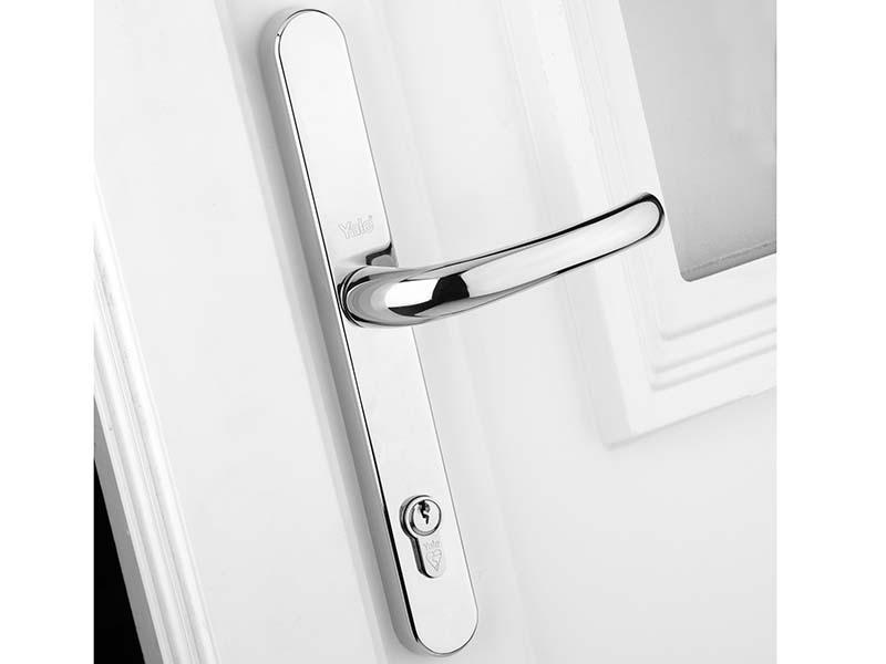 Retro Door Handle PVCu Polished Chrome Finish 1