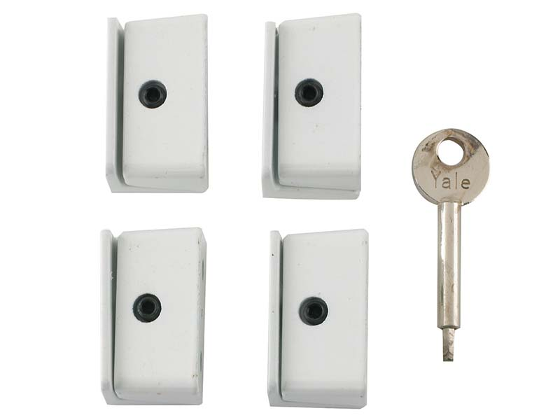 8K109 Window Stop White Pack of 4 Visi 1