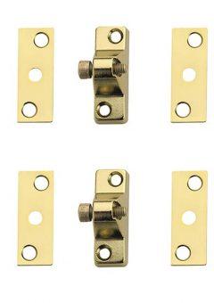 8K118 Economy Window Lock Electro Brass Finish Pack of 4 Visi 8