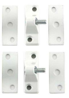 8K118 Economy Window Lock White Finish Pack of 4 Visi 9