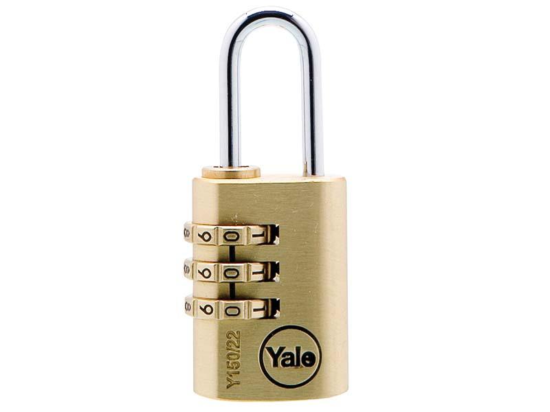 Y150 22mm Brass Combination Padlock 1