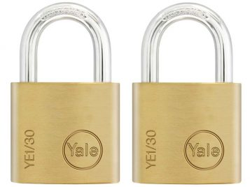 YE1 Brass Padlock 30mm (2 Pack) 1