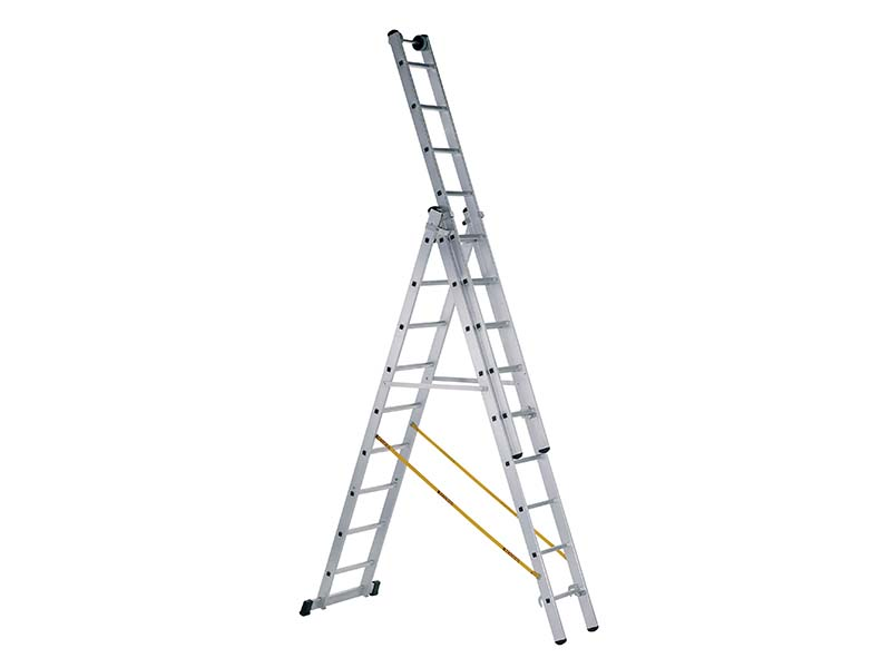 Skymaster Industrial 3-Part Combination Ladder 3 x 8 Rungs 1