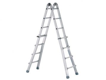 Industrial Telescopic Combination Ladder 4 x 6 Rungs 1